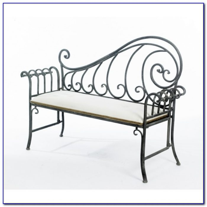 Wrought Iron Indoor Bench