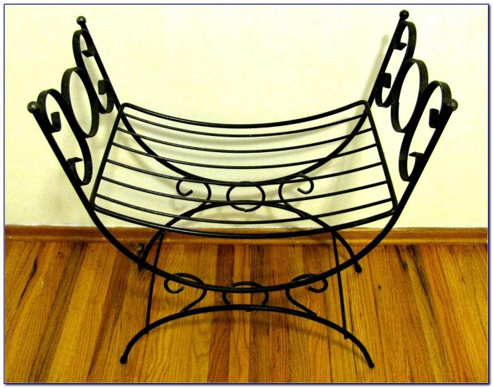 Wrought Iron Vanity Bench