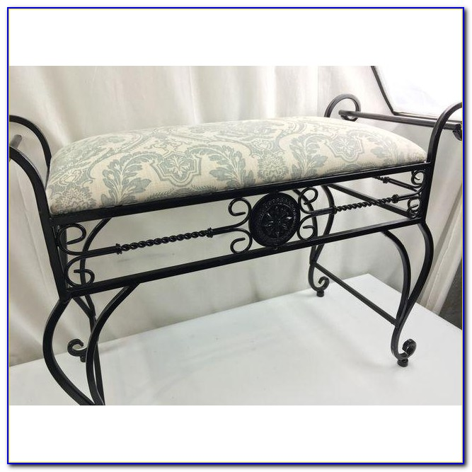 Wrought Iron Vanity Stool