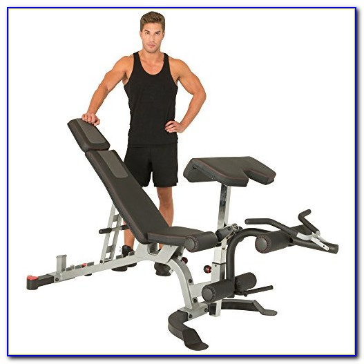 Xmark Olympic Weight Bench With Leg Curl Attachment