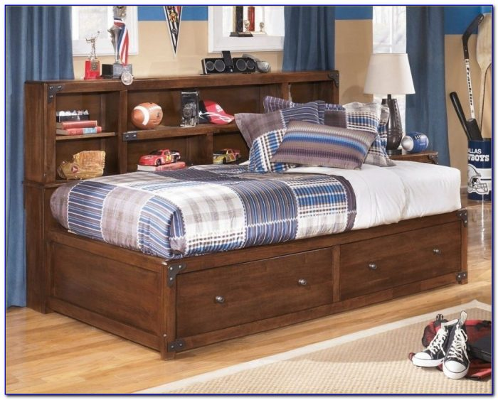 Zayley Full Bookcase Bed Dimensions