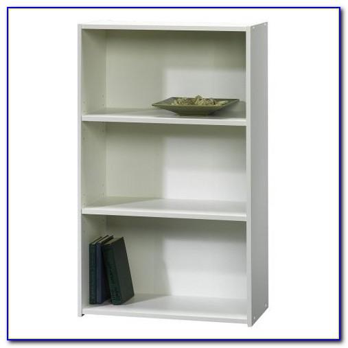 3 Shelf White Bookshelf