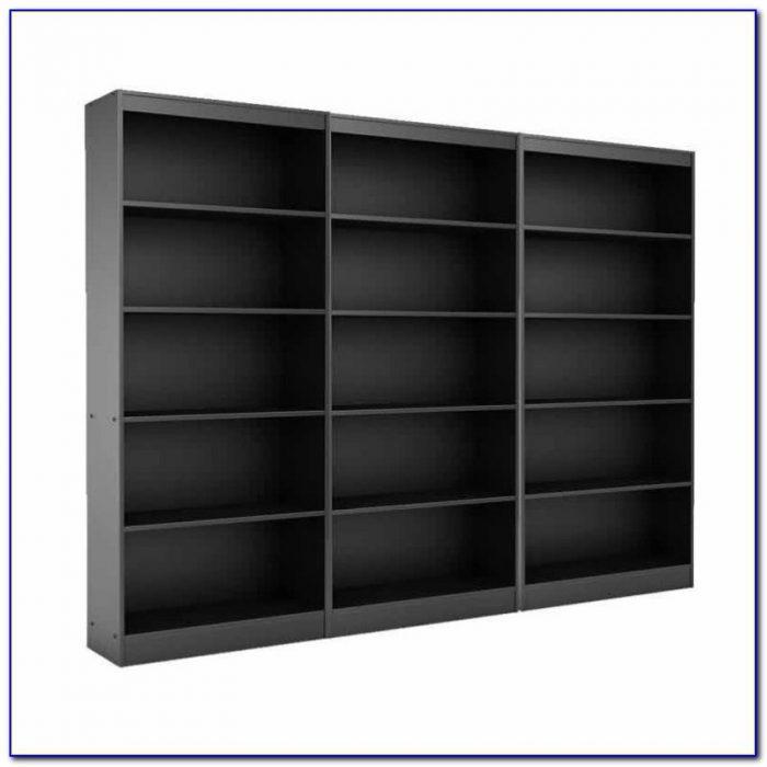 5 Shelf Black Bookcase