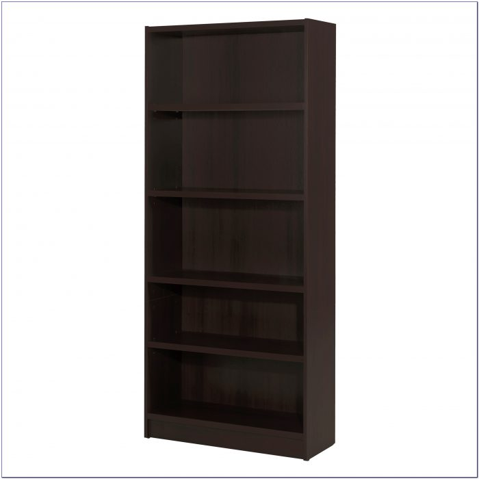 5 Shelf Espresso Bookcase With Doors