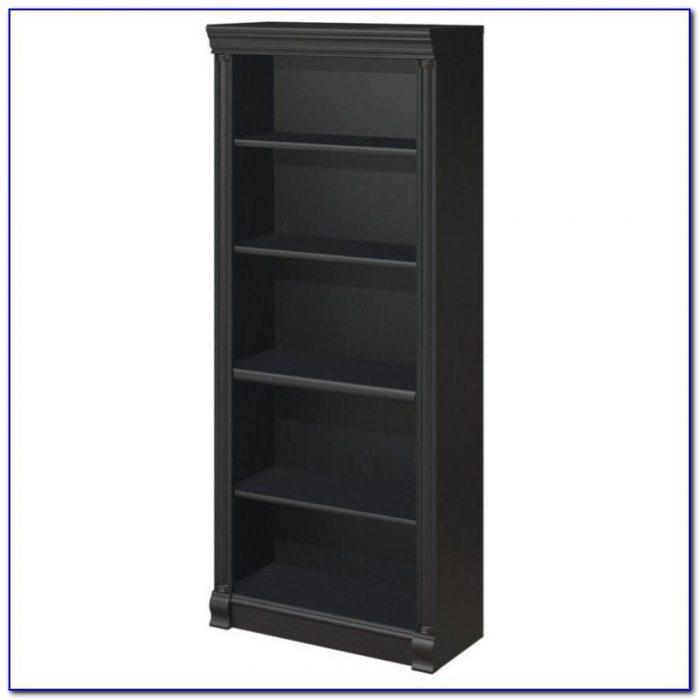 5 Shelf Ladder Bookcase Black
