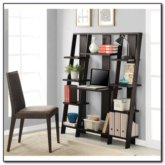 Altra Ladder Bookcase Towers With Desk