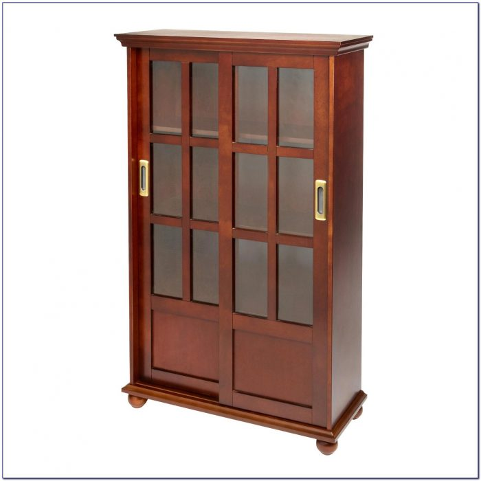 Ameriwood Bookcase With Sliding Glass Doors