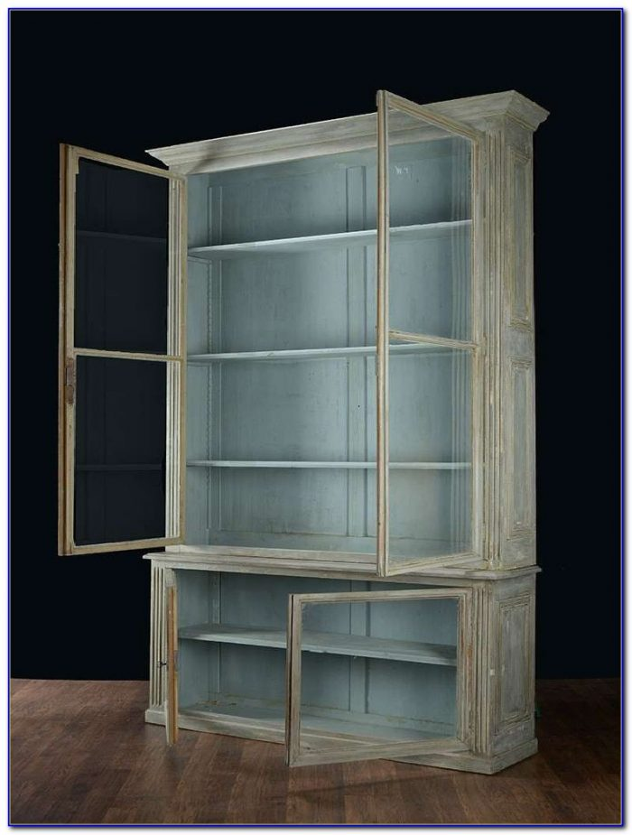Antique Barrister Bookcases With Glass Doors