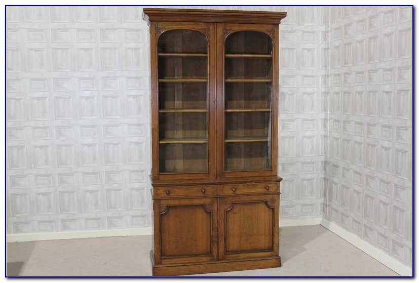 Antique Library Bookcases With Glass Doors