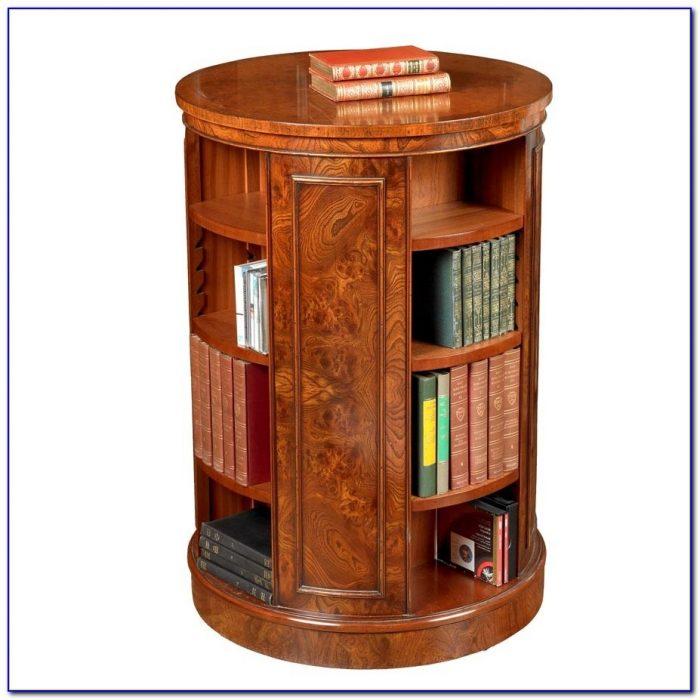 Antique Revolving Bookcase Table