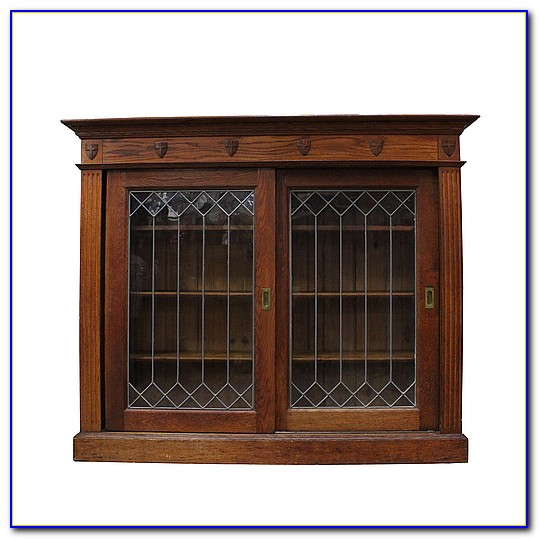 Auston Black Bookcase With Glass Doors