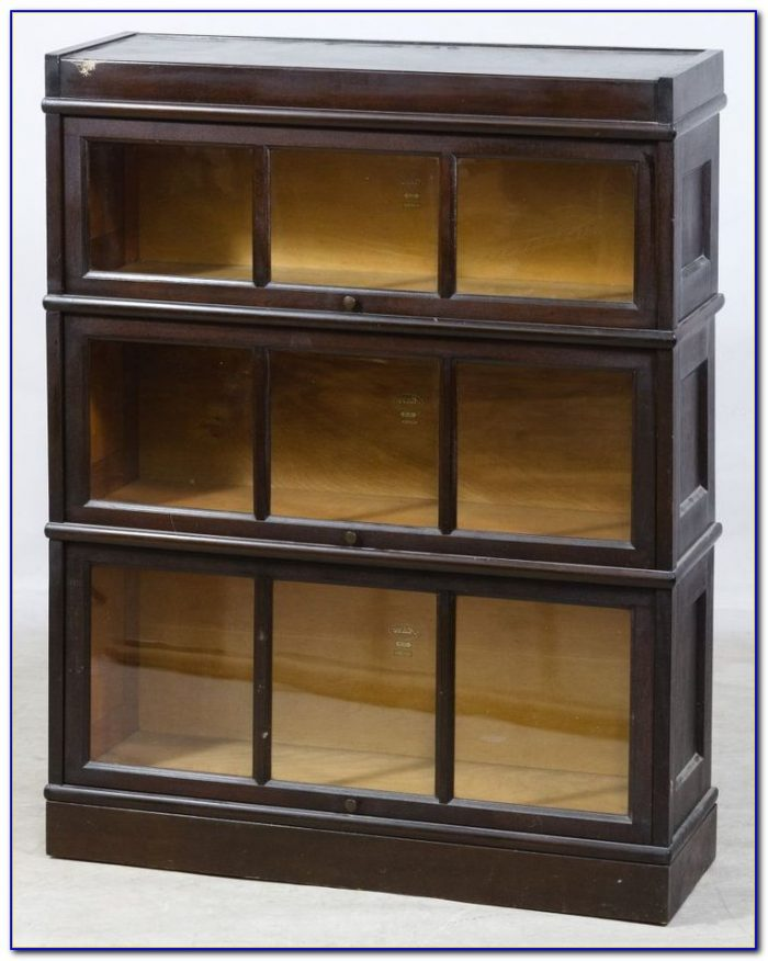 Barrister Bookcase With Sliding Glass Doors