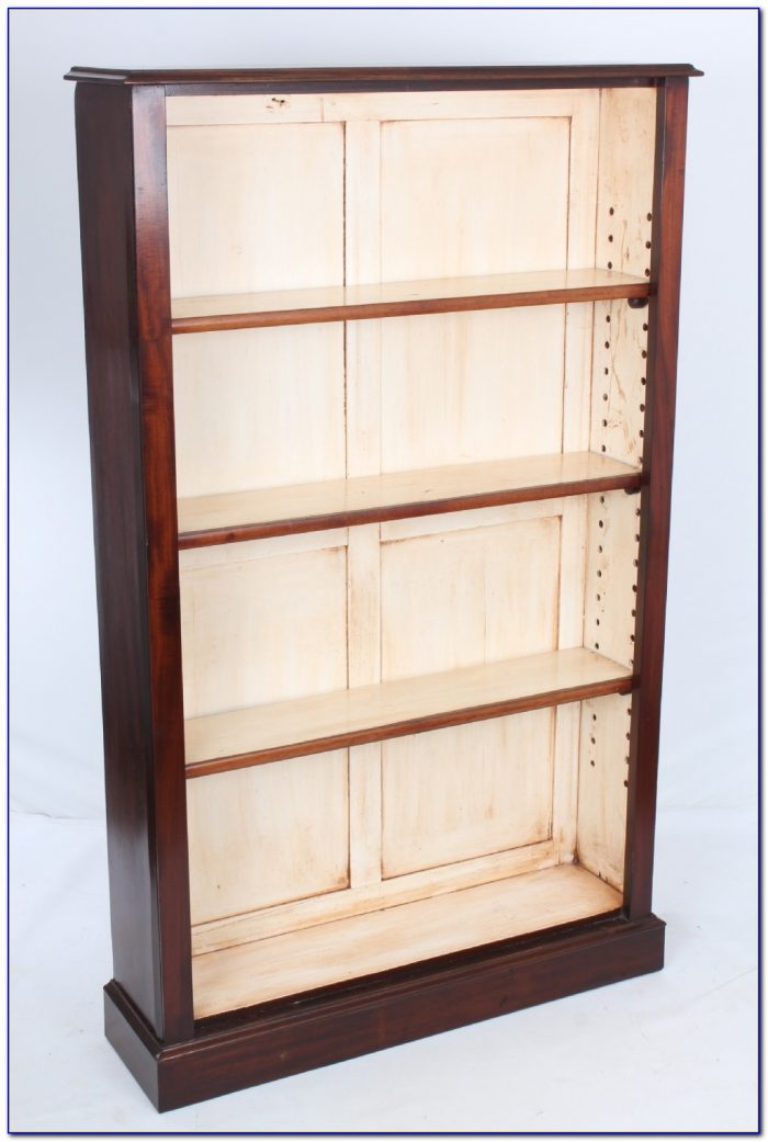 Black Tall Slim Bookcase