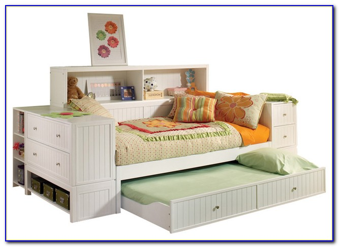 Bookcase Daybed With Storage And Trundle