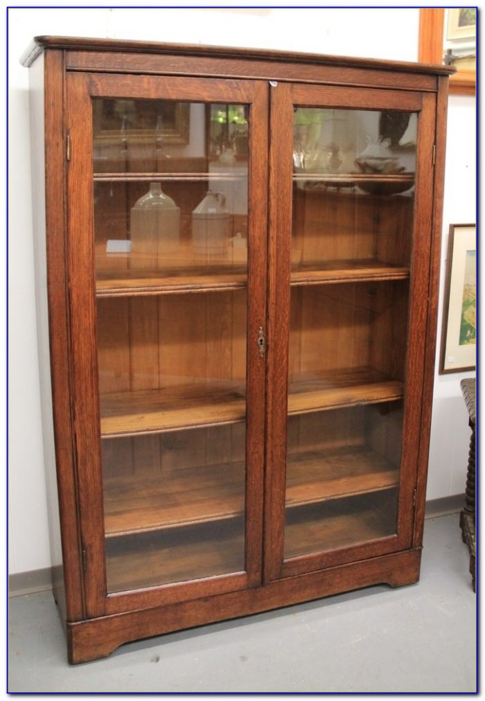 Bookcase Glass Doors Antique