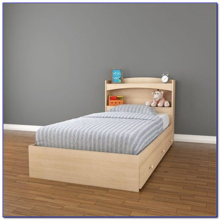 Bookcase Headboard Twin Oak