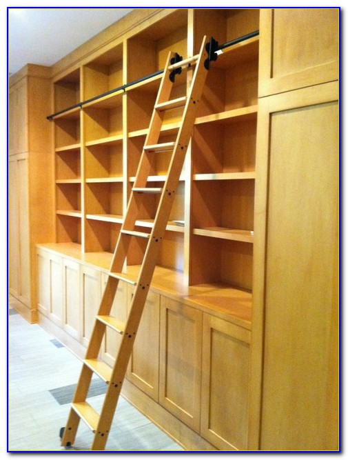 Ikea Bookcase Rolling Ladder Bookcase Home Design