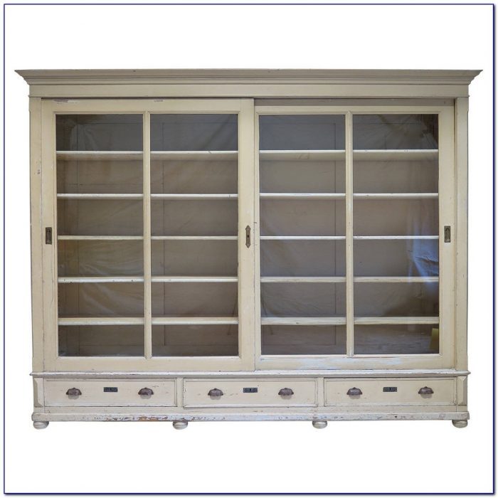Bookcase Sliding Glass Doors