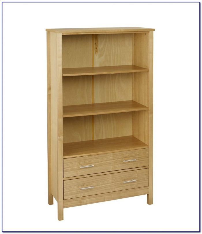 Bookcase With Canvas Bins