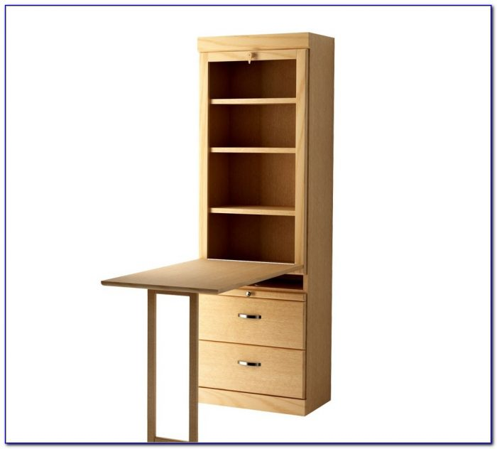 Bookcase With Drop Down Desk