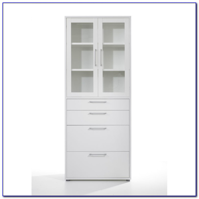 Bookcase With File Cabinets
