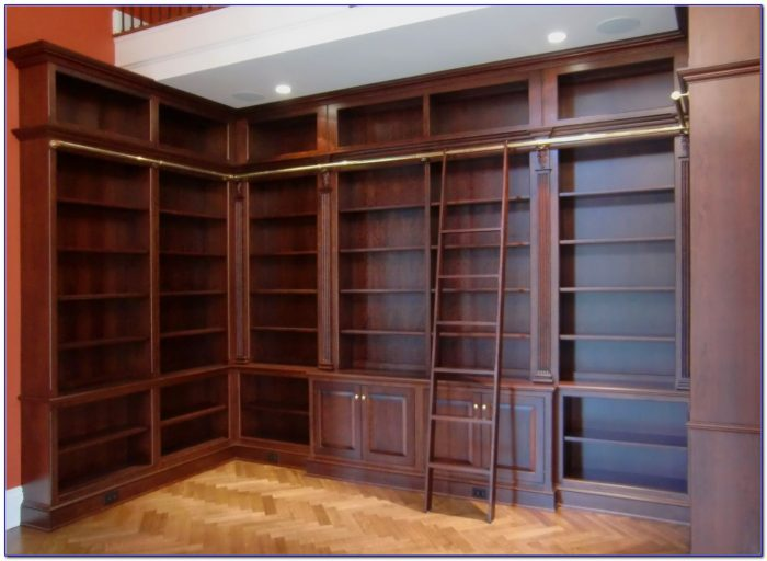 Bookcase With Library Ladder