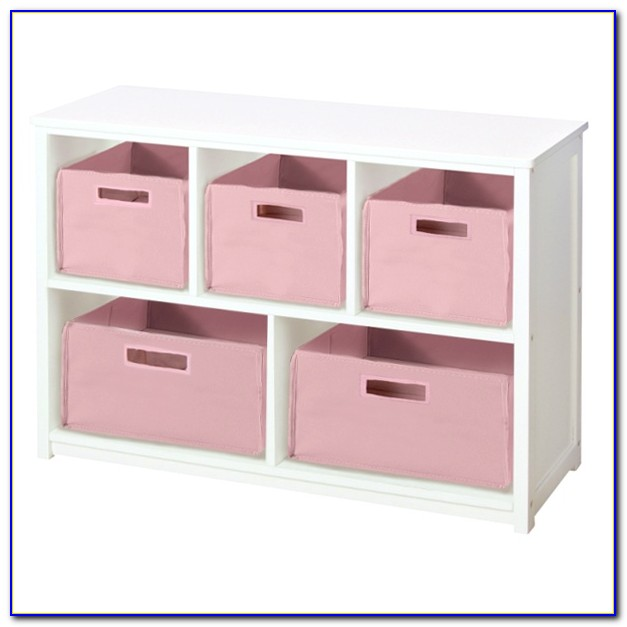 Bookcase With Storage Bins