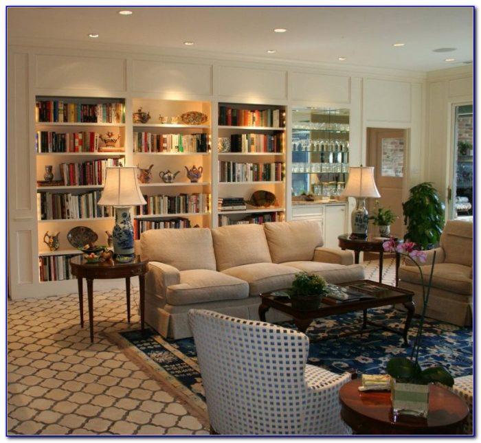 Bookshelf At Living Room