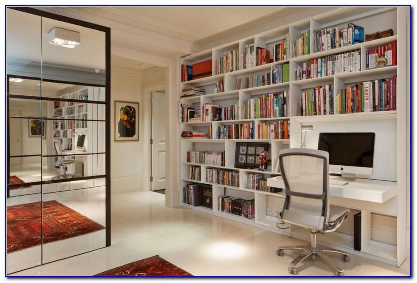 Bookshelf With Fold Down Desk