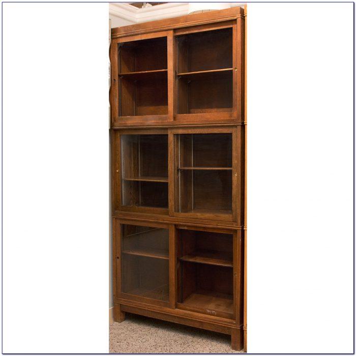 Bookshelf With Sliding Glass Doors