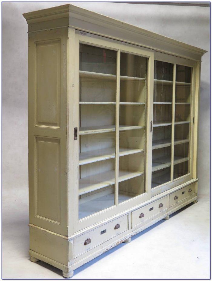 Bookshelves Sliding Glass Doors