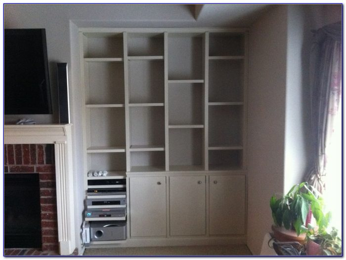 Build A Built In Bookcase Wall