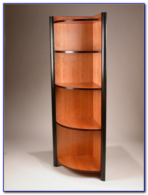 Cherry Corner Bookcase Or Cabinet