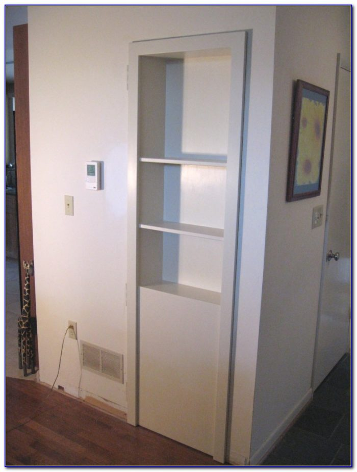 Closet Door Into Bookcase