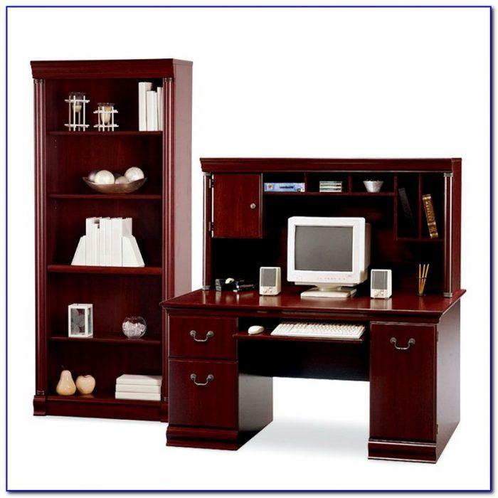 Computer Desk Bookcase Combo