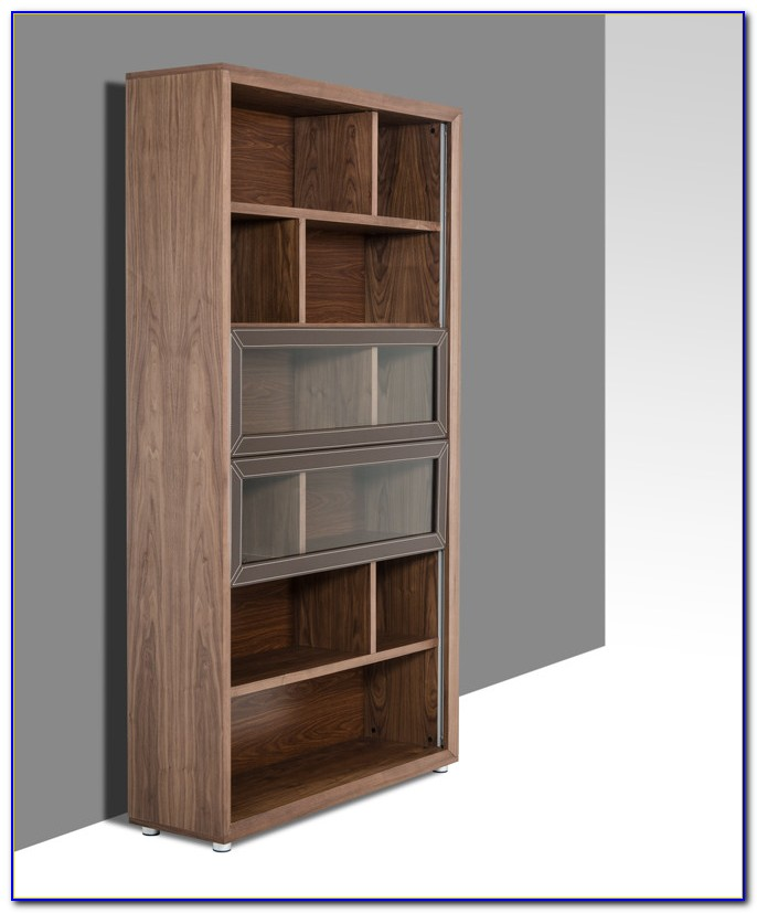 Contemporary Walnut Bookcase