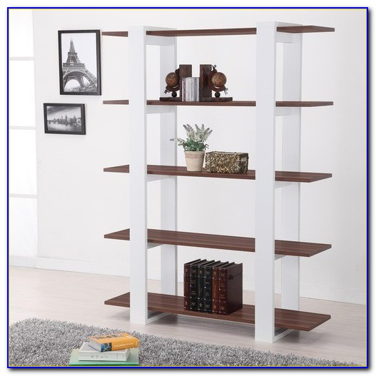 Contemporary White Gloss Bookcase