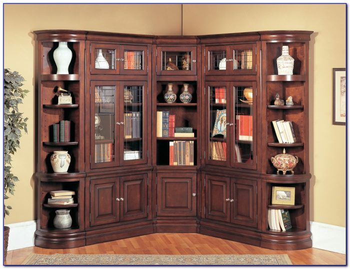 Corner Library Bookcase