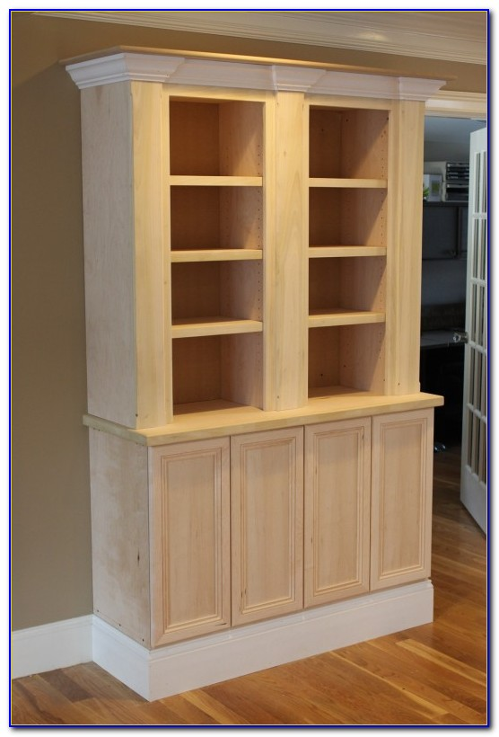 Custom Built Bookcases Around Fireplace