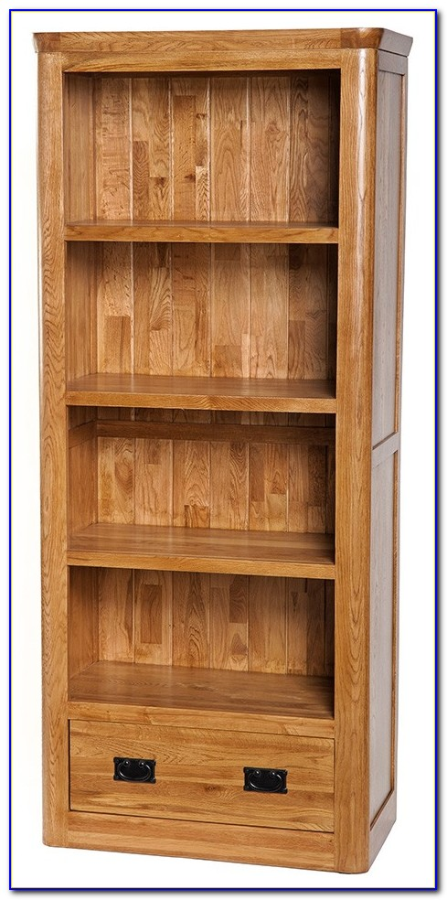 Dark Brown Wood Bookcases