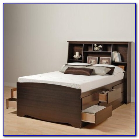 Dimensions Queen Bookcase Storage Bed
