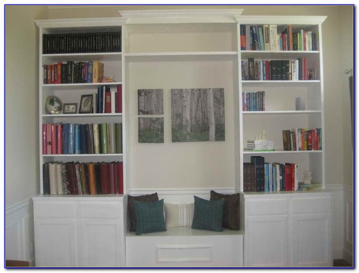 Diy Built In Bookcase With Desk