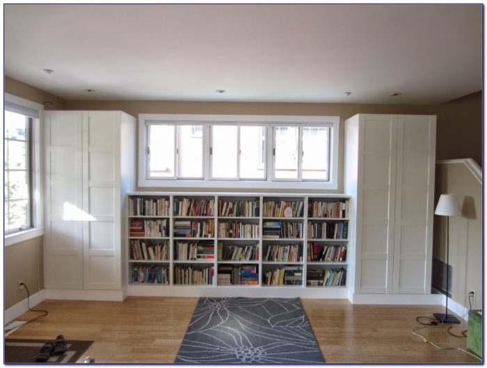 Diy Built In Bookshelves Ikea