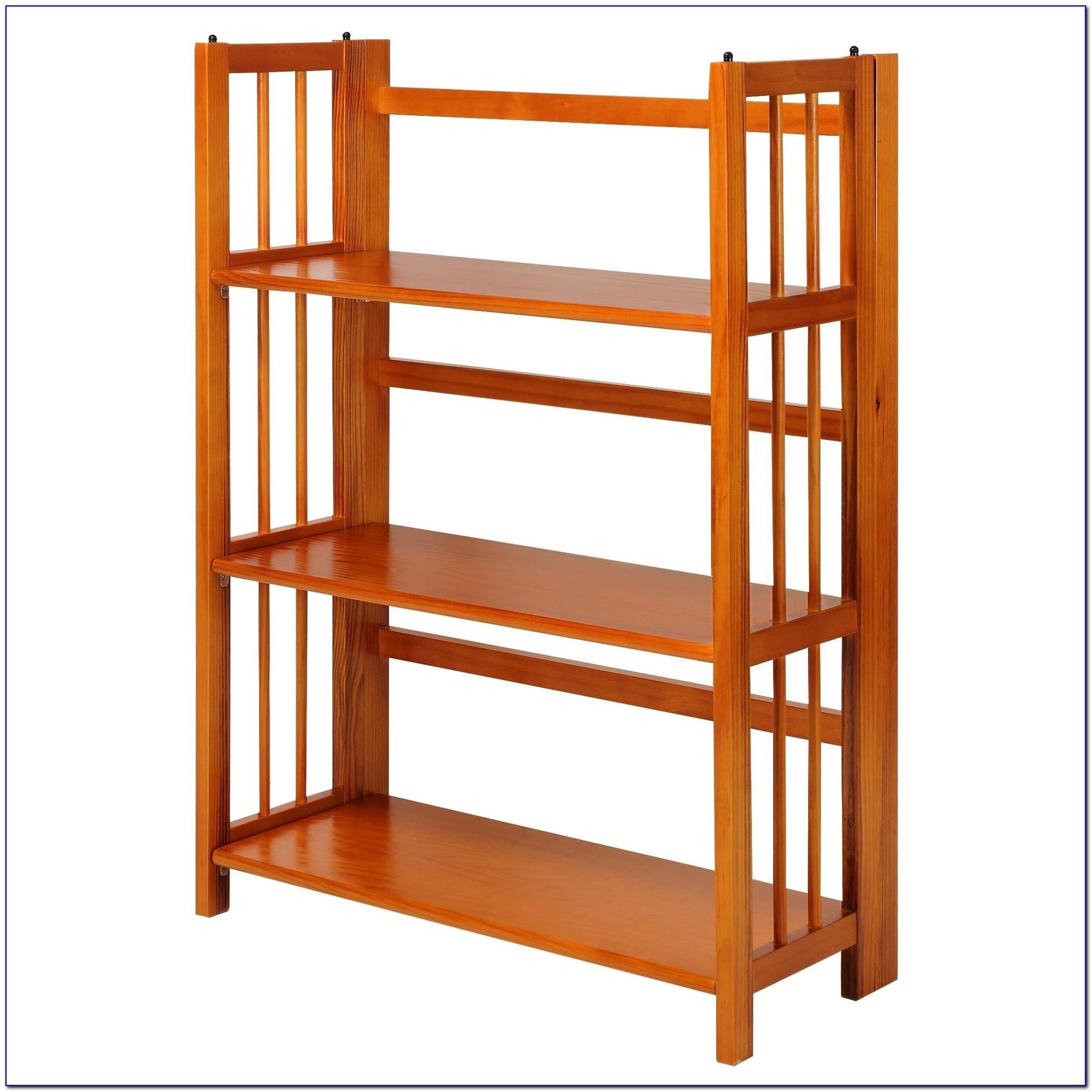 Folding Stackable Bookshelf
