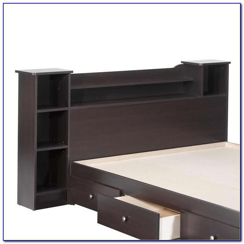 Full Size Oak Bookcase Headboard