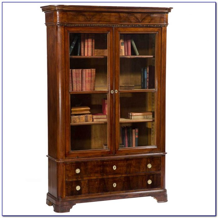 Glass Bookcase With Doors