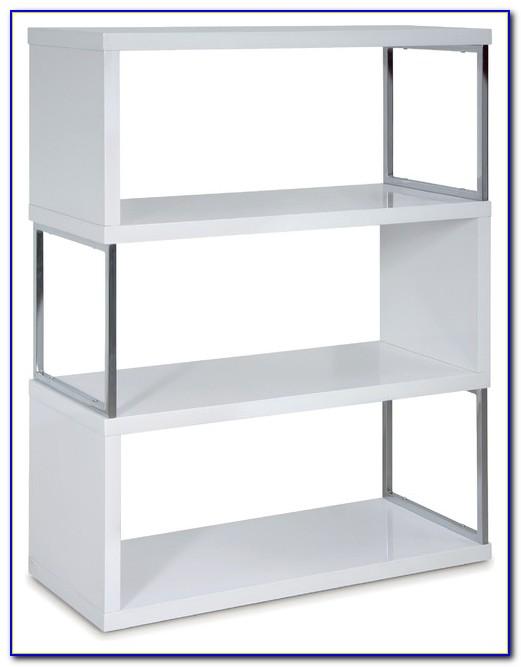 High Gloss Bookcase White