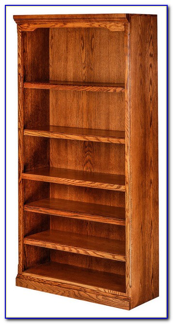 Honey Oak Bookshelves