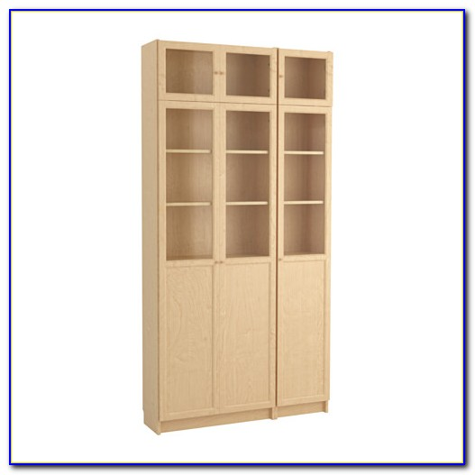 Ikea Billy Bookcase Birch Glass Door