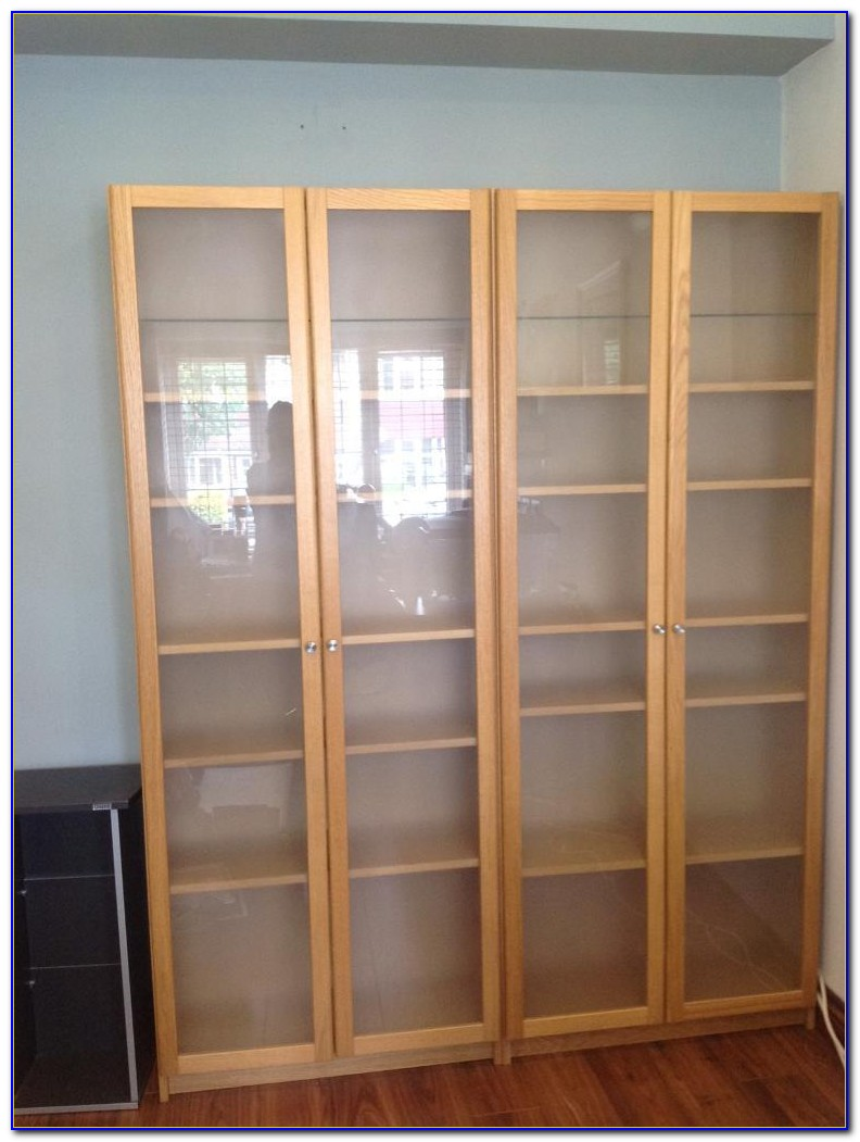 Ikea Billy Bookcase Glass Shelves